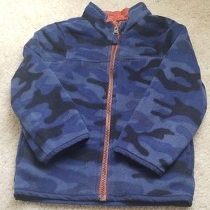 Polar fleece reversible jacket